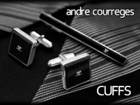 【andre courreges】アンドレ・クレージュ カフス 正方形 アクリル ブラック ACC10003 【セットではありません】