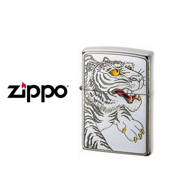 【ZIPPO】ジッポオイルライター オイルライター 200 和柄 虎 シルバー WAGARA-TORA