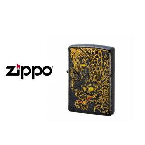 【ZIPPO】ジッポオイルライター オイルライター 200 和柄2 龍 ブラック WAGARA2-RYU