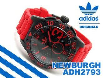 阿迪达斯纽堡纽堡计时男装看黑色红腰带 ADH2793
