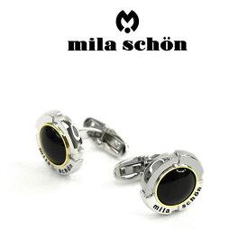 【mila schon】ミラショーン カフス 専用ボックス付き オニキス MSC10332