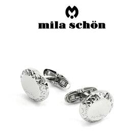 【mila schon】ミラショーン カフス 専用ボックス付き ロジウムメッキ MSC10371