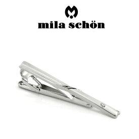 【mila schon】ミラショーン ネクタイピン 専用ボックス付き ロジウムメッキ MST5355