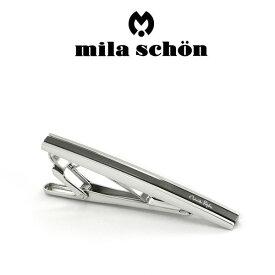 【mila schon】ミラショーン ネクタイピン 専用ボックス付き ブラックメッキ MST8337