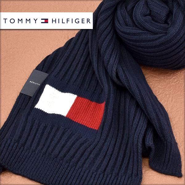 【送料無料】TOMMY HILFIGER トミー ヒルフィガー メンズマフラー ネイビー H8C73220-NV