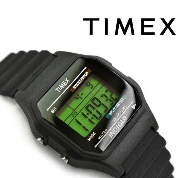 【国内正規品】タイメックス クラシックデジタル クォーツ 腕時計 ブラック ラバーベルト T75961【ネコポス不可】【あす楽】