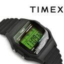 【国内正規品】タイメックス クラシックデジタル クォーツ 腕時計 ブラック ラバーベルト T75961【あす楽】
