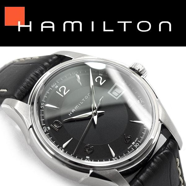 【HAMILTON】ハミルトン ジャズマスター ジェントクォーツ メンズ 腕時計 アナログ ブラックダイアル ブラックレザーベルト スイス製 H32411735