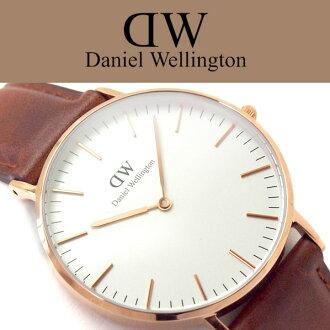 丹尼尔 · 威灵顿丹尼尔惠灵顿中性手表白色表盘粉红色金棕色鞋面革 DW00100035 0507DW