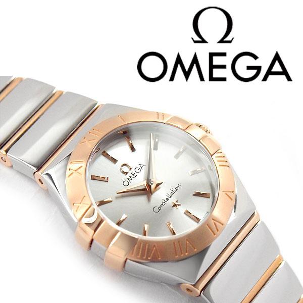 OMEGA オメガ コンステレーション レディース腕時計 ホワイトシルバー×ピンクゴールド ポリッシュ ステンレスベルト 123.20.24.60.02.003【ネコポス不可】