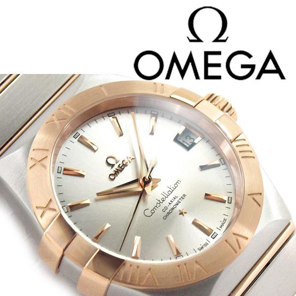 OMEGA オメガ コンステレーション オートマチック メンズ腕時計 シルバー×ローズゴールドダイアル シルバー×ローズゴールド ステンレスベルト 123.20.38.21.02.001【ネコポス不可】