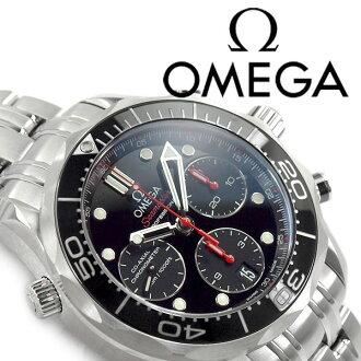 欧米茄欧米茄海马专业 300 共轴自动绕线机械计时男士手表黑色表盘不锈钢带 212.30.42.50.01.001