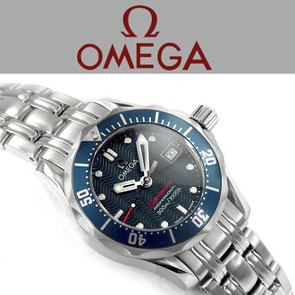 OMEGA奥米伽海主人专业潜水员300M石英女士手表黑色拨盘不锈钢皮带2224.80
