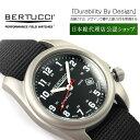 【正規品】BERTUCCI ベルトゥッチ クォーツ メンズ腕時計 チタニウムケース ブラック ナイロンベルト BE-12022【送料…