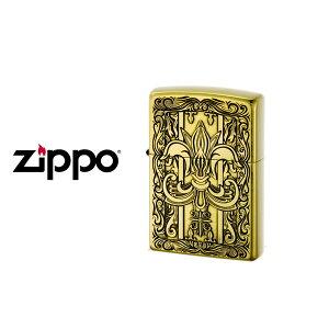 【ZIPPO】ジッポー オイルライター Classic Series クラシックシリーズ ユリ エッチング 真鋳古美 ゴールド CLASSIC-YURI-B【ネコポス不可】