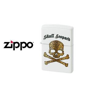【ZIPPO】ジッポー オイルライター Skull Leopard スカルレオパード 真鍮 マット塗装 インクジェットプリント ホワイト SKULL-LEOPARD-WH【ネコポス不可】