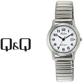 【ネコポス送料無料】【レビューを書いて1年保証】シチズン CITIZEN Q&Q キューキュー Falcon ファルコン レディース 腕時計 ホワイト × シルバー D015-204【あす楽】
