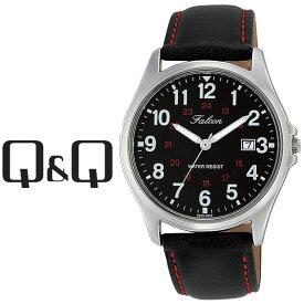 【ネコポス配送で送料無料】【レビューを書いて1年保証】シチズン CITIZEN Q&Q キューキュー Falcon ファルコン メンズ 腕時計 ブラック × ブラック D026-305