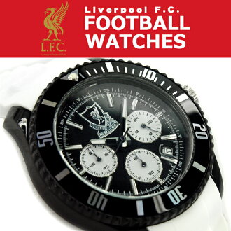 足球手錶手錶足球利物浦 FC 肝池計時矽帶帶黑色白色男裝看的 GA3752 貓 POS 不能