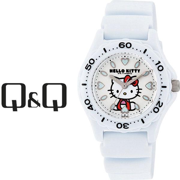 【ネコポス配送で送料無料】【レビューを書いて1年保証】シチズン CITIZEN Q&Q キューキュー HelloKitty ハローキティ レディース 腕時計 ホワイト × ホワイト VQ75-431【あす楽】