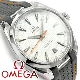 OMEGA オメガ シーマスター アクアテラ 自動巻き機械式 クロノメーター メンズ腕時計 ホワイトダイアル グレーラバーベルト 220.12.41.21.02.002