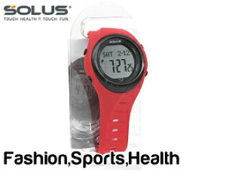 SOLUS team sports 300 walking jogging health watch consumption calories heart rate number measurement features red 01-300-04