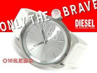 柴油手錶DIESEL人銀子橡膠皮帶DZ1445