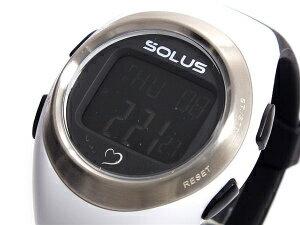 【SOLUS Leisure 800】ソーラス レジャー800 ウォーキング ジョギング 健康 腕時計 消費カロリー 心拍数測定機能 ホワイト ブラック 01-800-205【ネコポス不可】