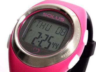 SOLUS leisure 800 walking jogging health watch consumption calories heart rate number of measurement features pink black 01-800-206