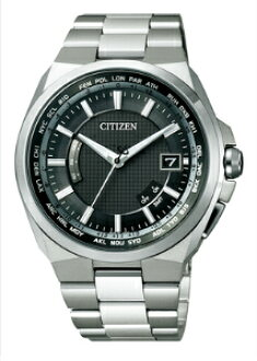 Citizen atessa mens watch eco-drive radio clock perfect multi 3000 solar world time black titanium CB0120-55E