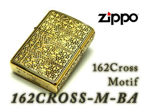 【ZIPPO】ジッポオイルライター アーマー 5面加工 162 Cross Motif 162クロスモチーフBA ゴールド 162CROSS-M-BA【ネコポス可】