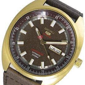 【逆輸入 SEIKO5 SPORTS】逆輸入セイコー5 スポーツ 自動巻き 手巻き付き メンズ 腕時計 SRPB74K1 ブラウン