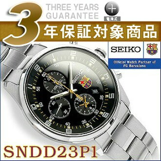 SEIKO foreign countries model FC Barcelona balsa men Highway chronograph watch black stainless steel belt SNDD23P1