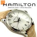 HAMILTON ハミルトン JAZZMASTER LADY ジャズマスター レディ レディース 腕時計 アナログ クォーツ 電池式 レザーベルト 本革 カーフ シルバー ベージュ 30mm スイス製 H42211855