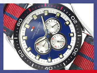 TOMMY HILFIGER Tommy Hilfiger mens watch Navy Dial-Leather & harnesses 1790600