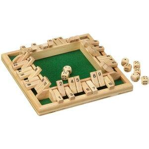 フィロス Philos 木製ゲーム シャット ザ ボックス Shut The Box サイコロゲーム ボードゲーム パーティー ゲーム