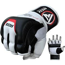 RDX カウハイド レザー製 グラップリング グローブ 各種サイズ MMA 格闘技 トレーニング RDZG244 XLサイズ 白