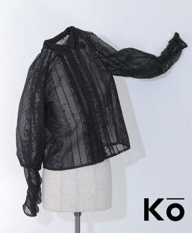 ▼▼「Ko」溶け合う華の影に袖を通してシャツトップス4月16日22時販売新作