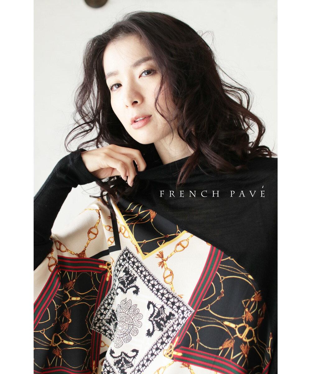 【再入荷♪1月30日12時&22時より】「french pave」スカーフを纏うような大人柄ドルマントップス