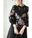 【再入荷♪1月13日12時&22時より】「french pave」豪華に施した花刺繍のエレガンスワンピースチュニック