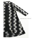【大特価:アウトレット:返品・交換不可】「frenchpave」連なる白花刺繍が目を惹く羽織りカーディガン