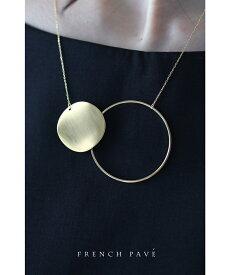 【再入荷♪7月14日12時&22時より】「frenchpave」寄り添う輪とプレートのネックレス