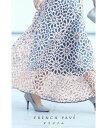S〜M/L〜2L対応【再入荷♪6月24日12時&20時より】(ライトブルー)FRENCHPAVEオリジナル 一目惚れカッティング花レー…