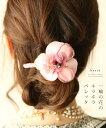 【再入荷♪6月14日12時&22時より】「french」一輪の花のキラキラバレッタ