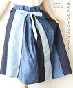 (ブルー)【再入荷♪6月21日12時&22時より】「french」爽やかなストライプスカート