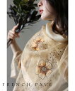 「frenchpave」花刺繍を施した上品なシアーストール6月17日22時販売新作