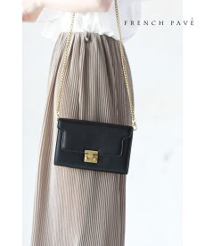「frenchpave」(黒)コンパクトで収納力抜群。2wayマルチミニバッグ鞄 かばん7月18日22時販売新作