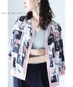(S~L)「frenchpave」フェミニンピンクの縁取りスカーフショートカーディガン羽織り7月18日22時販売新作