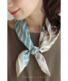 【再入荷♪9月18日12時&22時より】「frenchpave」いつものコーデを華やかにする4色の縞模様スカーフ