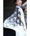 【再入荷♪7月1日12時&20時より】(アイボリー)「FRENCH PAVE」ふわり纏う透明感。クラシックな花のストール